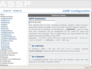 Como usar o Anti-Spam, ASSP (Anti-Spam SMTP Proxy) no Linux