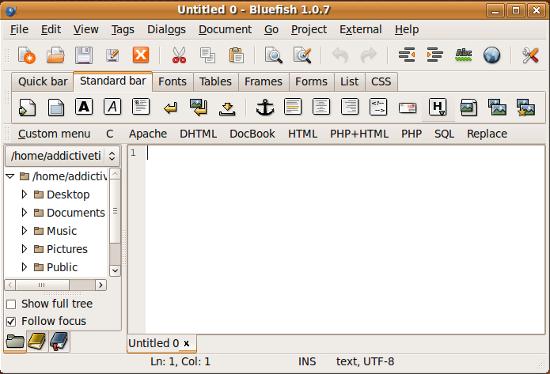 editor de texto bluefish4