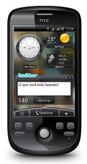 Foto do HTC Magic com Android em tamanho Natural