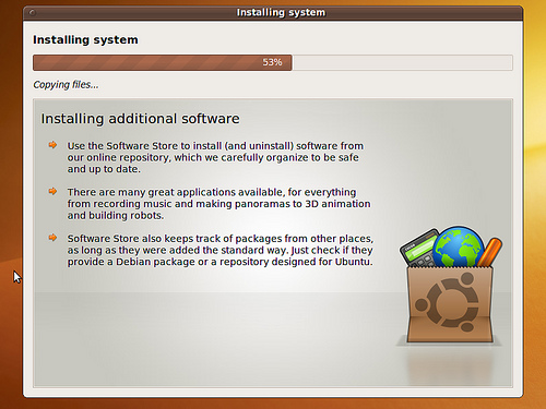 Ubuntu karmic koala 9.10 install