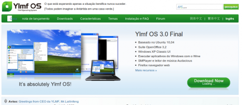 Linux com interface do windows 7