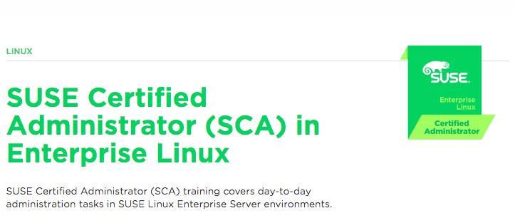 Certificação linux SUSE Certified Administrator (SCA) in Enterprise Linux