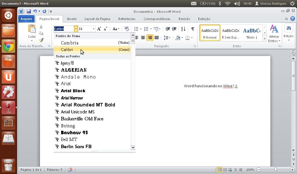 microsoft office funcionando no linux ubuntu