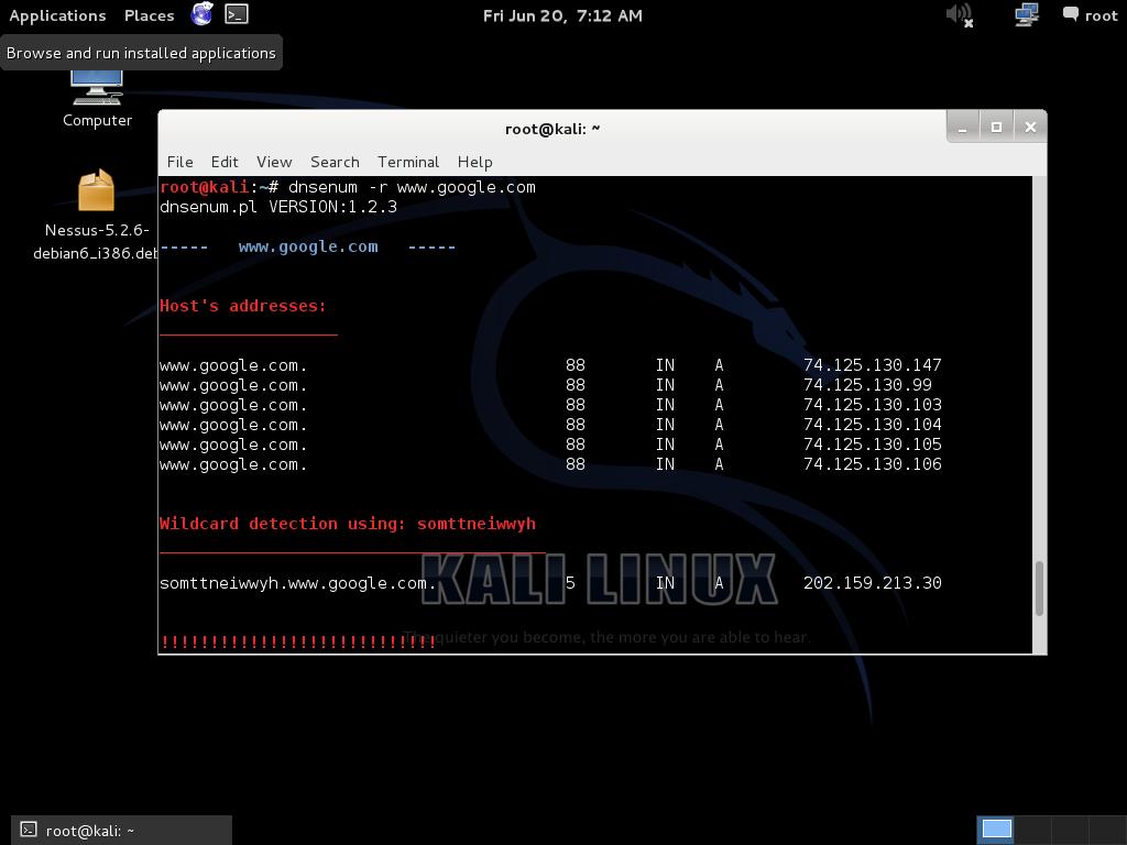 DNSenum kali linux ferramentas para hackers