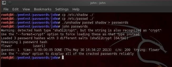John The Ripper ferramenta hackers linux