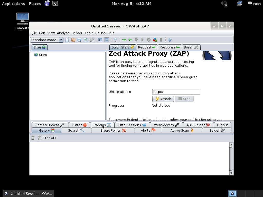 OWASP ZAP no kali linux