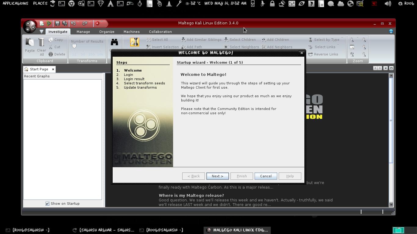 Maltego ferramentas utilizada por hacker no kali linux
