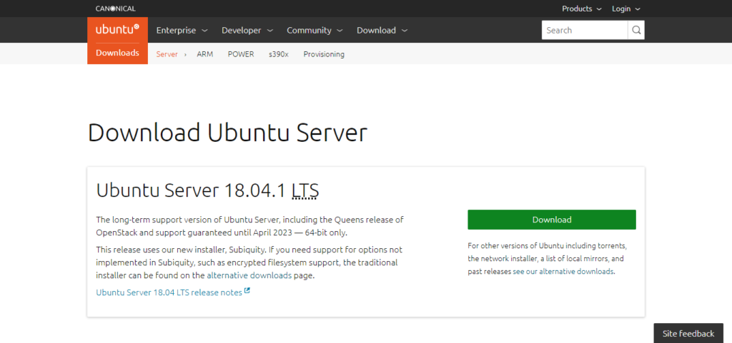 Ubuntu Server Download